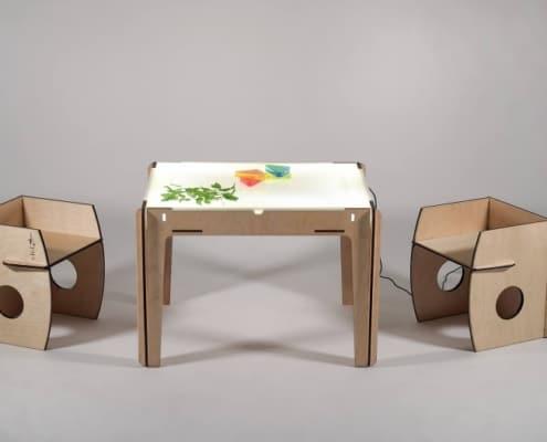 tavolo e sedie montesori